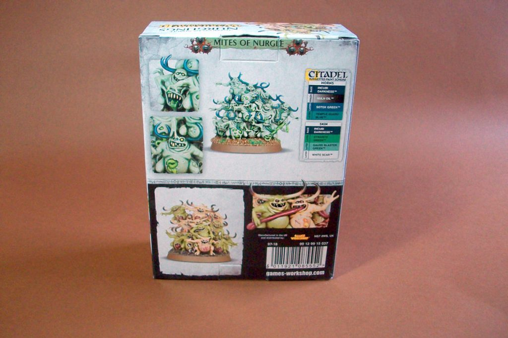 Rear view of Nurglings box