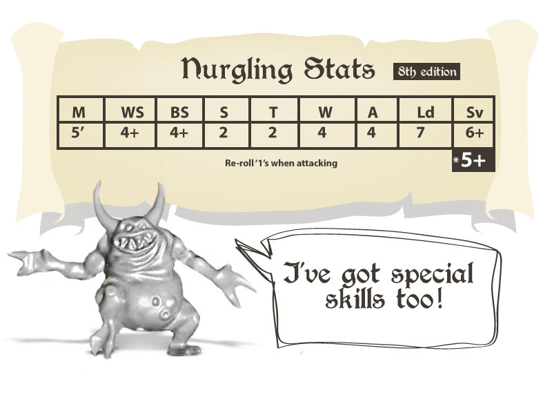 What are the stats for Nurglings in Warhammer 40k 8th edition | Datacard
