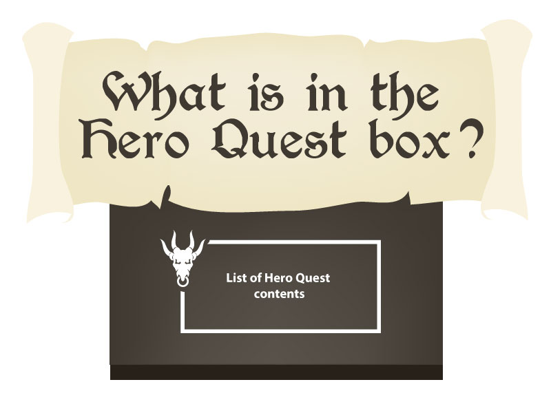 contents in a box of Hero Quest