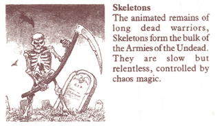 Hero Quest Skeleton illustration