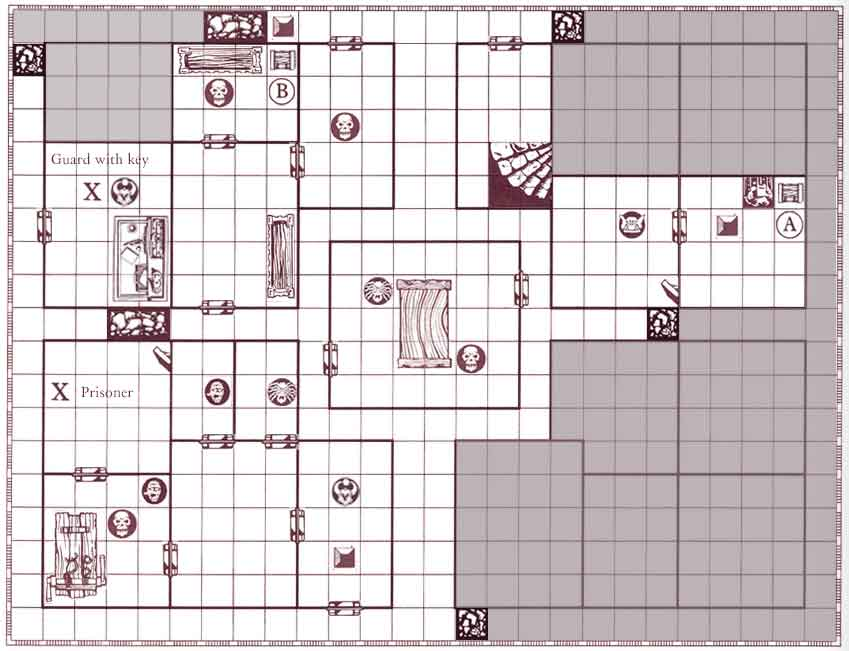 Hero Quest Example Map | make your own heroquest game