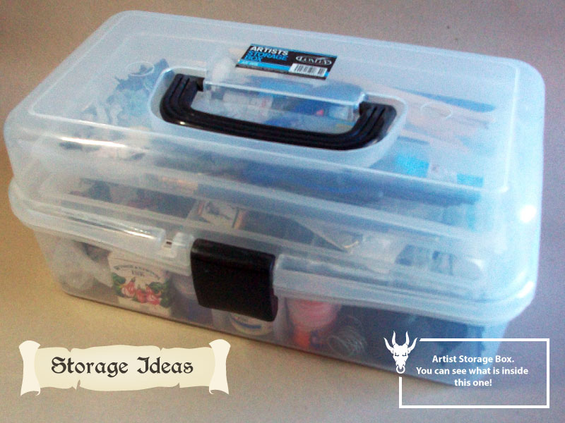 How to store your miniatures for cheap box idea