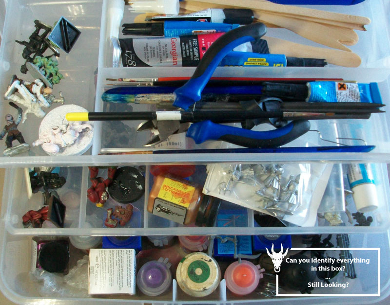 How to store your miniatures open box storage
