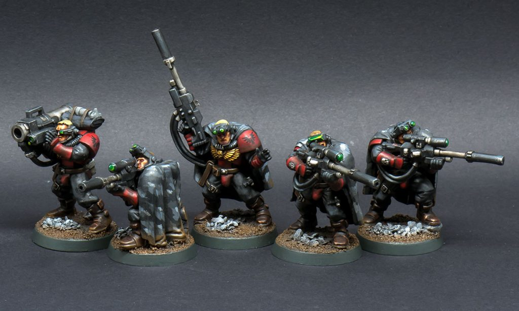 Why miniature figure painting is an art - space marine scouts