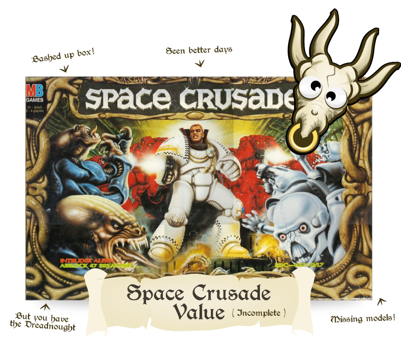 what is an incomplete space crusade worth?