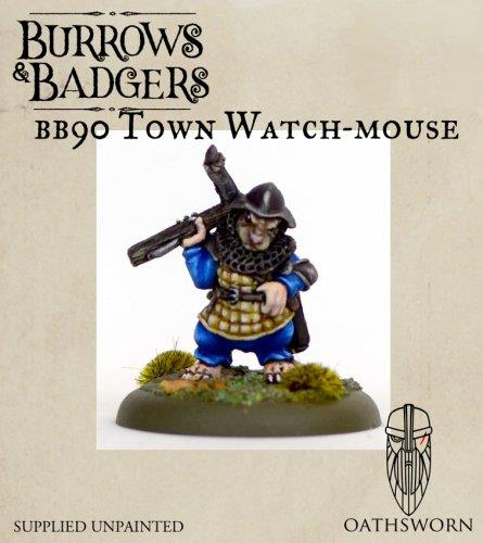 Burrows & Badgers Miniatures | town Watch Mouse