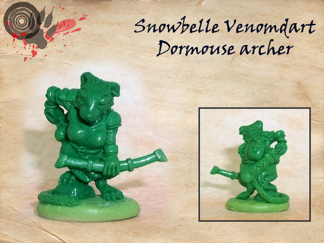 The original greenstuff sculpt of a 28 mm miniature by Oathsworn Miniatures