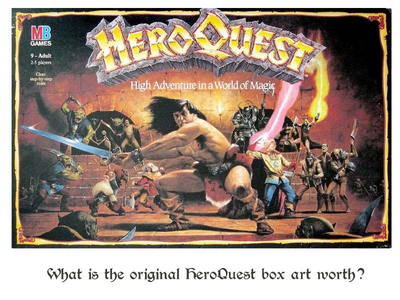 original heroquest box art value title