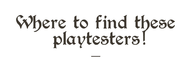 where to find beta testers for your board game - title