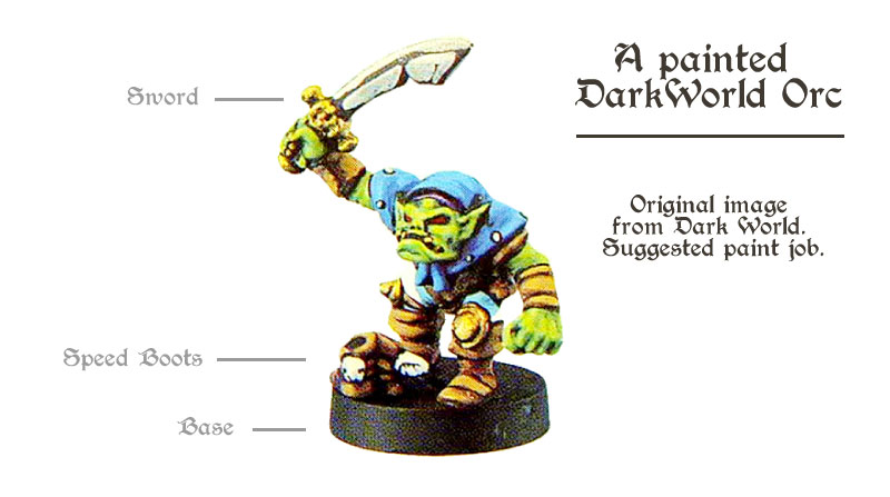 miniatures from Dark World board game - Orc!