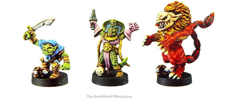 miniatures came in the dark world, ork, Korak, manticore