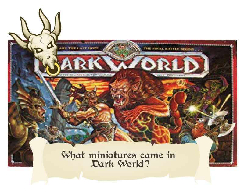 what miniatures came in the dark world board game 1992