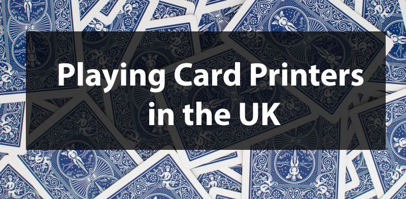 Playing card game printers based in UK
