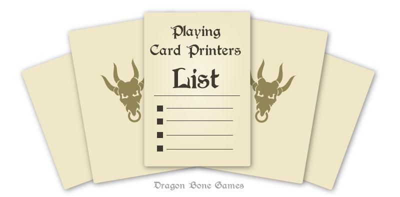 card game printers