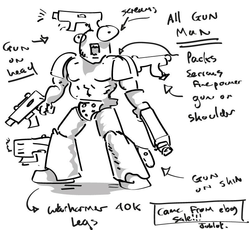 What are Warhammer conversions mega guns!